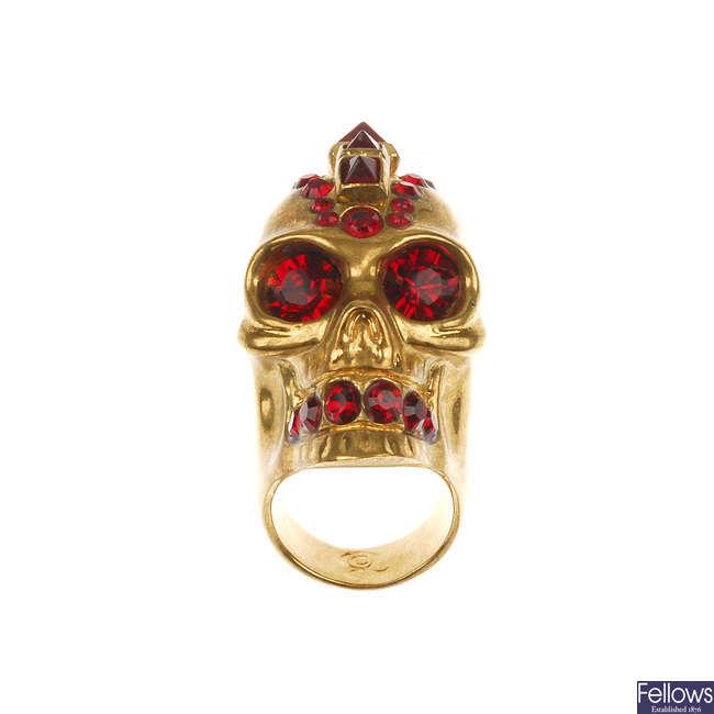 ALEXANDER MCQUEEN - a Punk Skull ring.