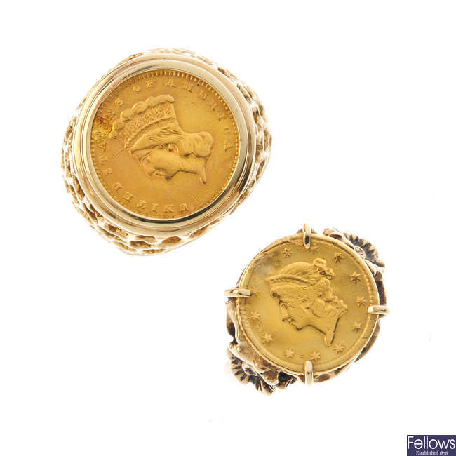 Two coin rings.