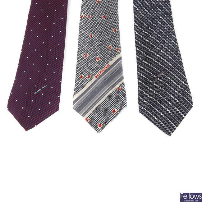 BALENCIAGA - three ties.