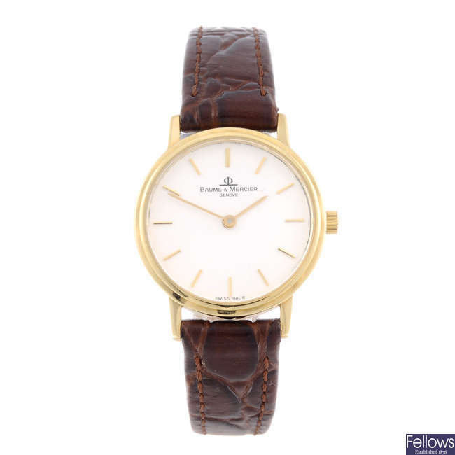 BAUME & MERCIER - a lady's 18ct yellow gold Classima wrist watch.
