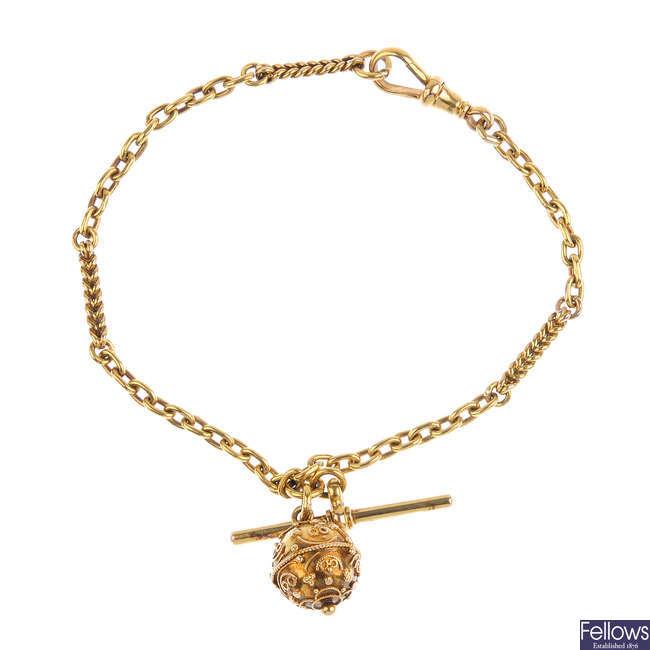 A late Victorian gold bracelet.