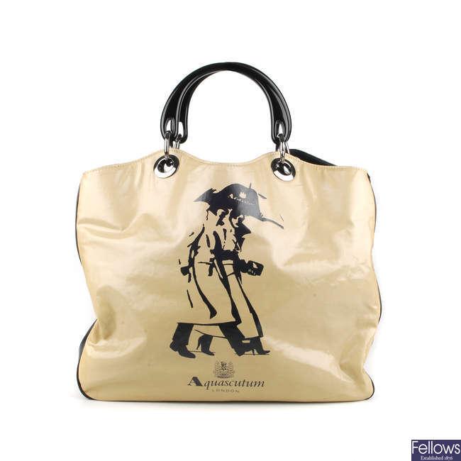 AQUASCUTUM - a PVC handbag.