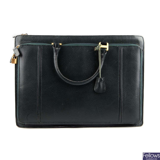 BALLY - a vintage leather briefcase.