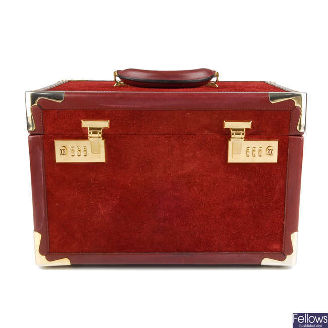 CARTIER - a Must De Cartier travel vanity case.