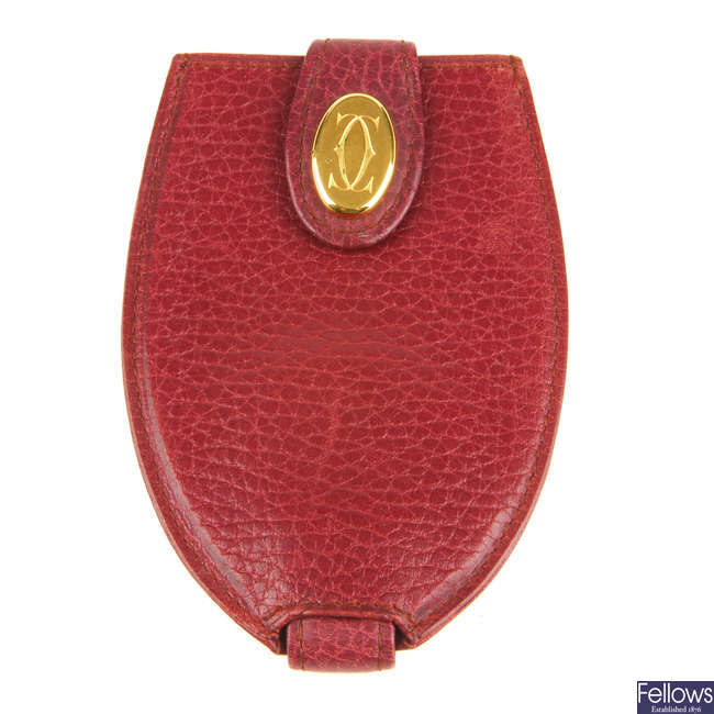CARTIER - a leather key chain.