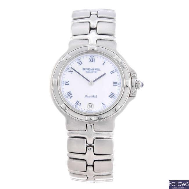 RAYMOND WEIL - a gentleman's stainless steel Parsifal bracelet watch.