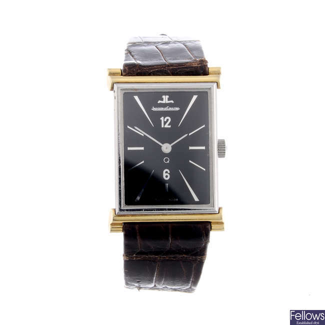 JAEGER-LECOULTRE - a bi-metal wrist watch.