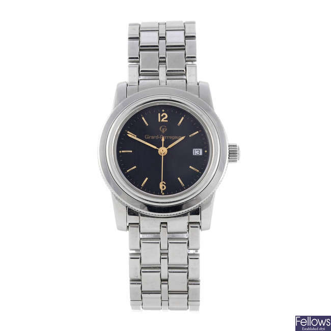 GIRARD-PERREGAUX - a lady's stainless steel bracelet watch.