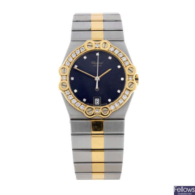 CHOPARD - a lady's bi-metal St. Moritz bracelet watch.