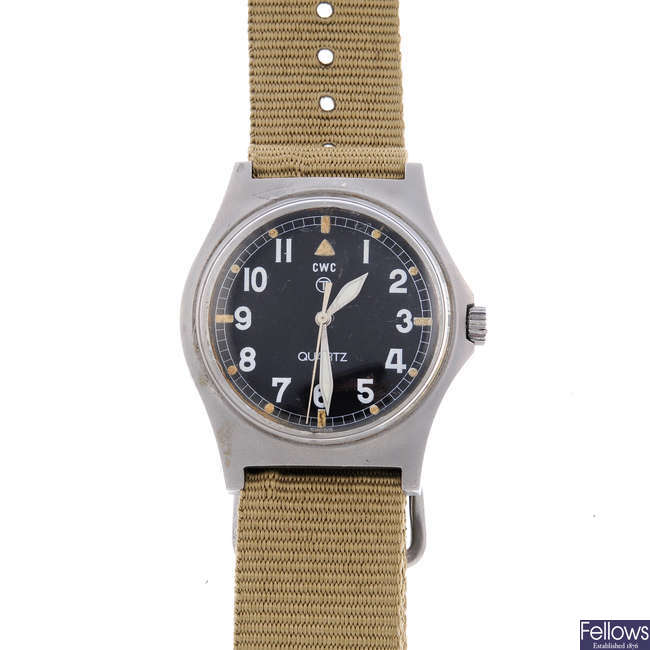 CWC - a gentleman's stainless steel military issue wrist watch.