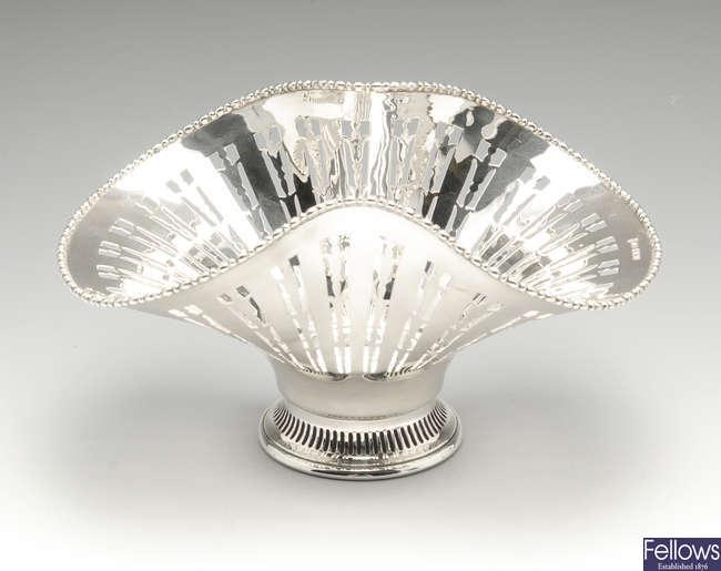 An early twentieth century silver bowl.