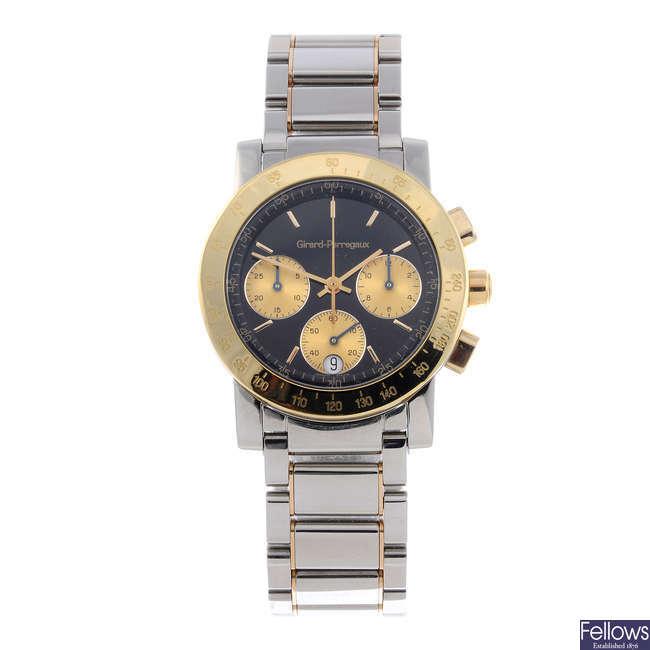 GIRARD-PERREGAUX - a mid-size bi-metal chronograph bracelet watch.