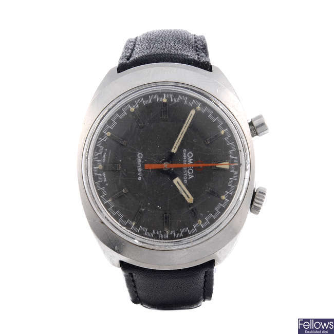 OMEGA - a gentleman's stainless steel Chronostop 'Driver wrist watch