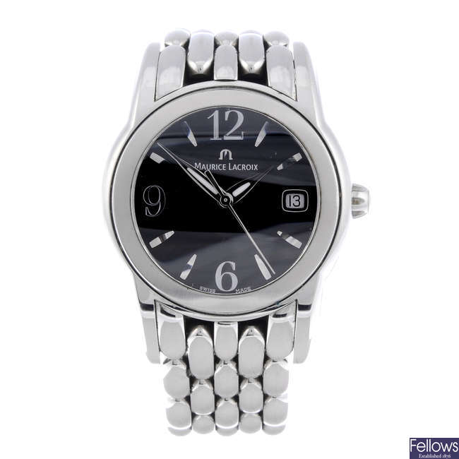 MAURICE LACROIX - a mid-size stainless steel bracelet watch.