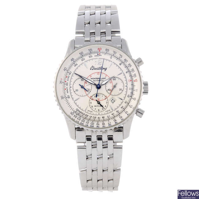 BREITLING - a gentleman's stainless steel Navitimer Montbrilliant chronograph bracelet watch.