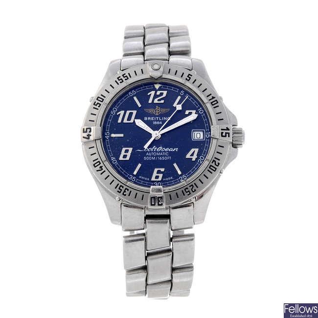 BREITLING - a gentleman's stainless steel Aeromarine ColtOcean bracelet watch.