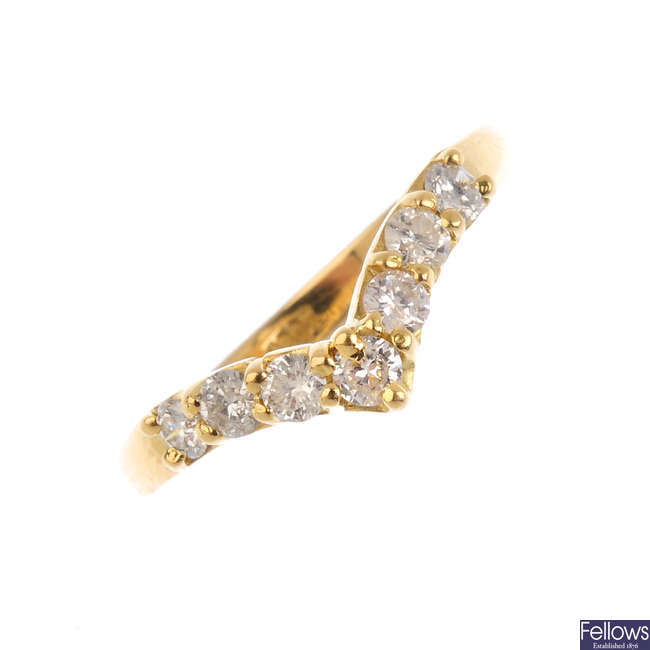 A diamond chevron ring.