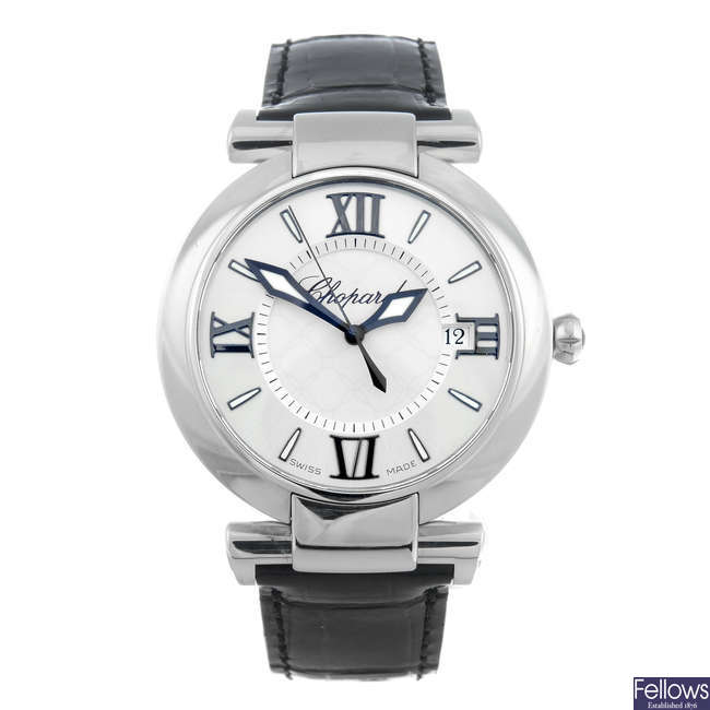 CHOPARD – a lady's stainless steel Imperiale wrist watch.