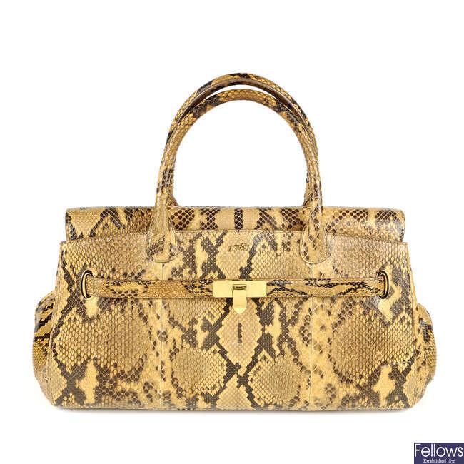 ASPREY - a python skin 1781 handbag.