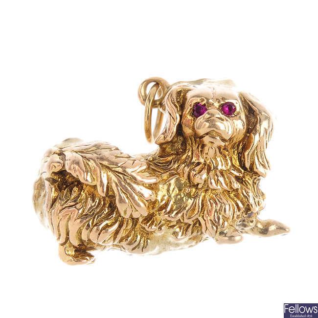 A dog charm.