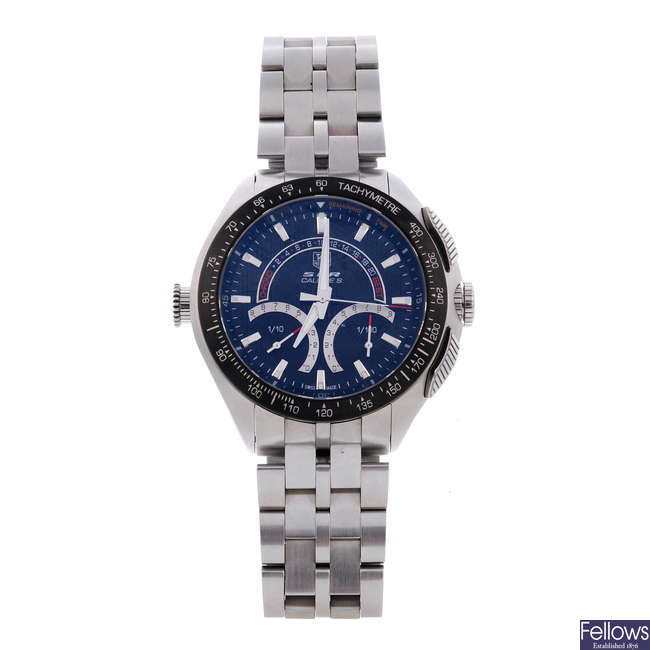 TAG HEUER - a gentleman's stainless steel Mercedes Benz SLR chronograph bracelet watch.