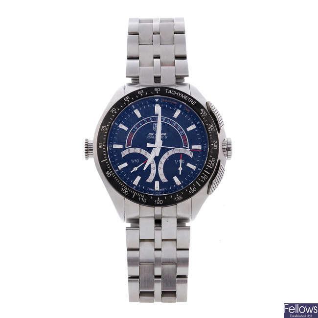 TAG HEUER - a gentleman's stainless steel Mercedes Benz SLR chronograph bracelet watch.