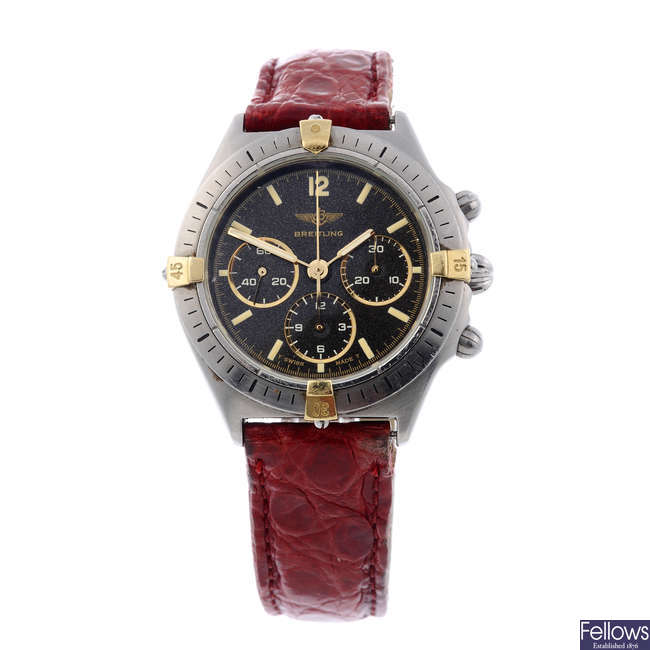 BREITLING - a mid-size stainless steel Callisto Chrono chronograph wrist watch.