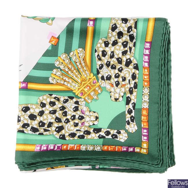 CARTIER - a silk scarf.