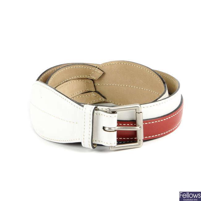 ALAÏA - a leather belt.