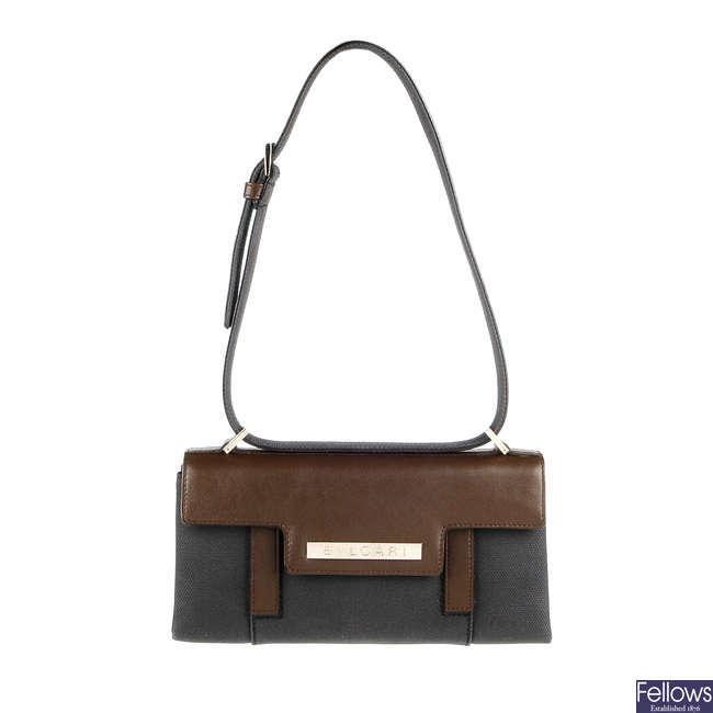 BULGARI - a baguette handbag.
