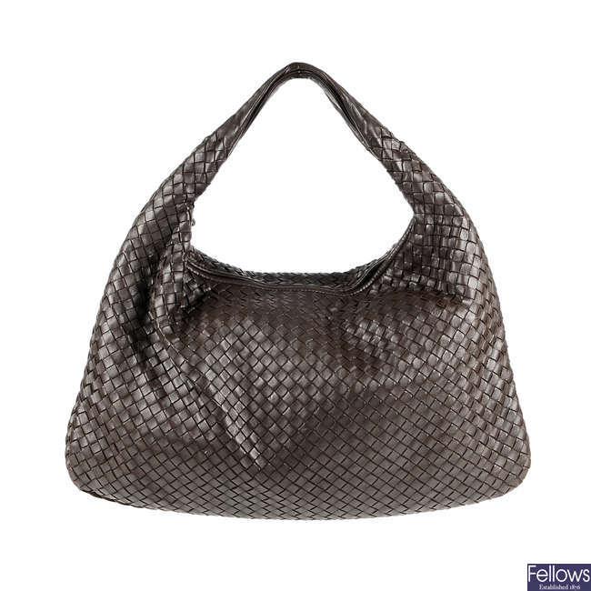 BOTTEGA VENETA - a Nappa Intrecciato Veneta hobo handbag.