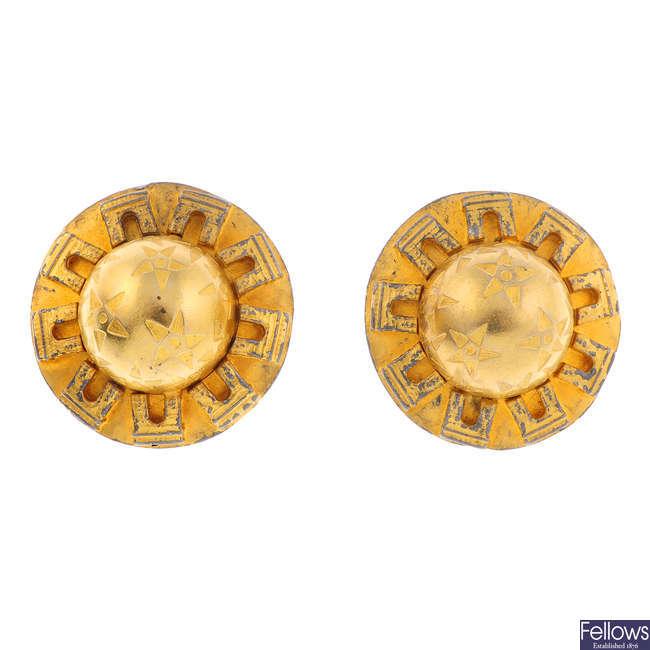 CÉLINE - a pair of clip-on earrings.