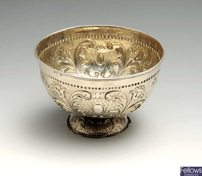 A late 19th century Dutch export silver bowl.
