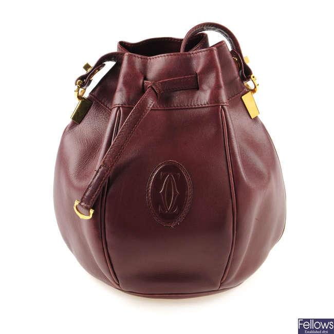 CARTIER - a Must De Cartier Tulip bucket bag.
