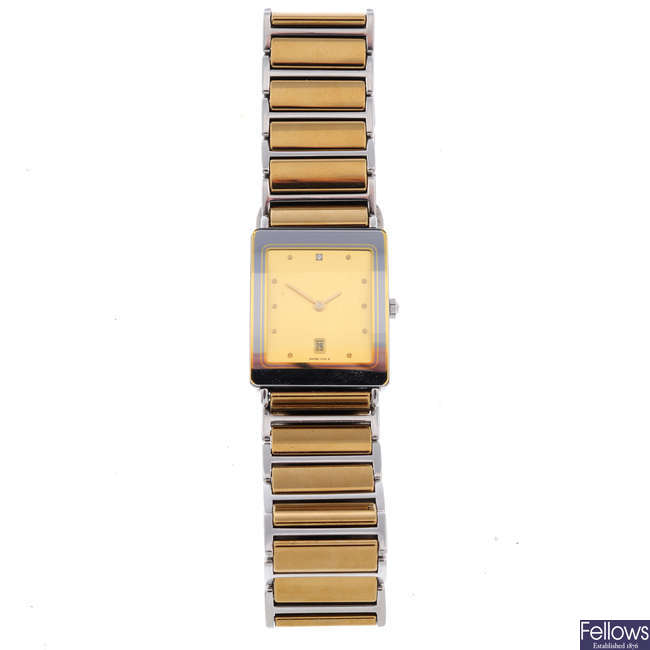 RADO - a stainless steel Diastar bracelet watch with Omega and Bulova watches.