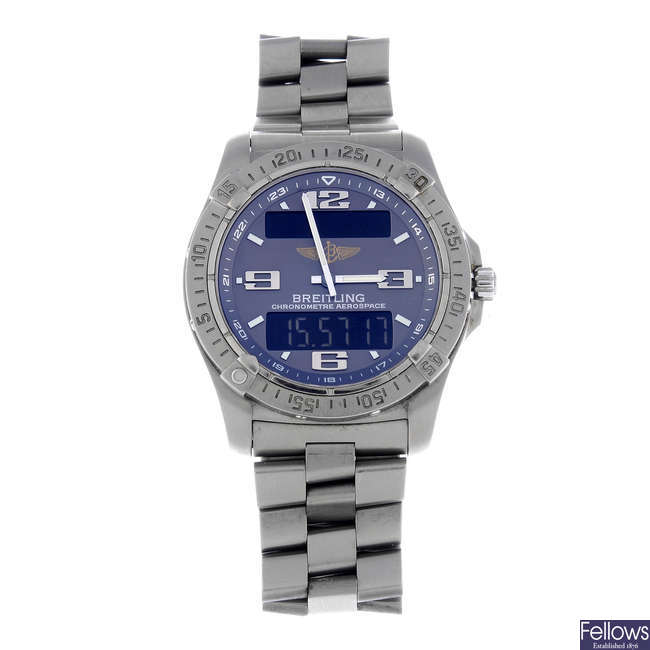 BREITLING - a gentleman's titanium Aerospace bracelet watch.