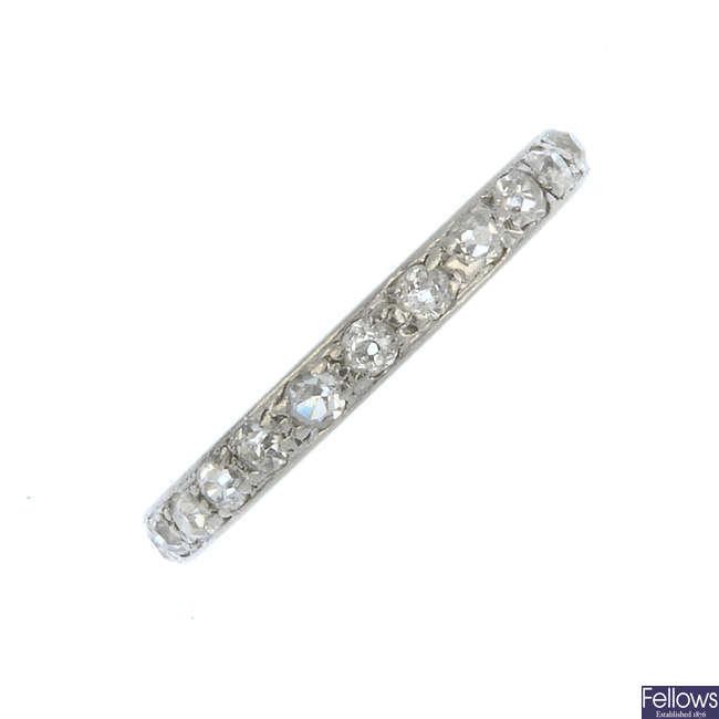 An early 20th century diamond full eternity ring.