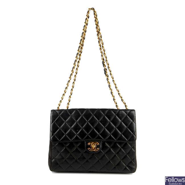 CHANEL - a Jumbo Classic Flap handbag.