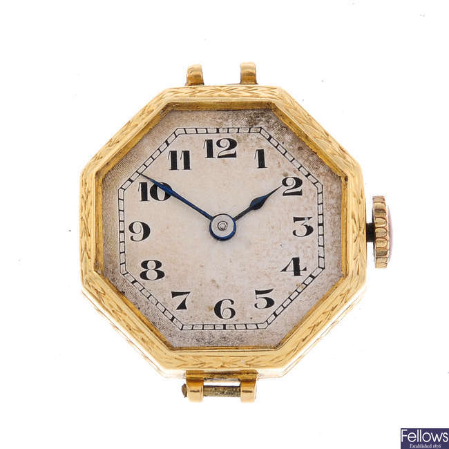 ROLEX - a lady's 18ct yellow gold watch head with a BWC wrist watch.