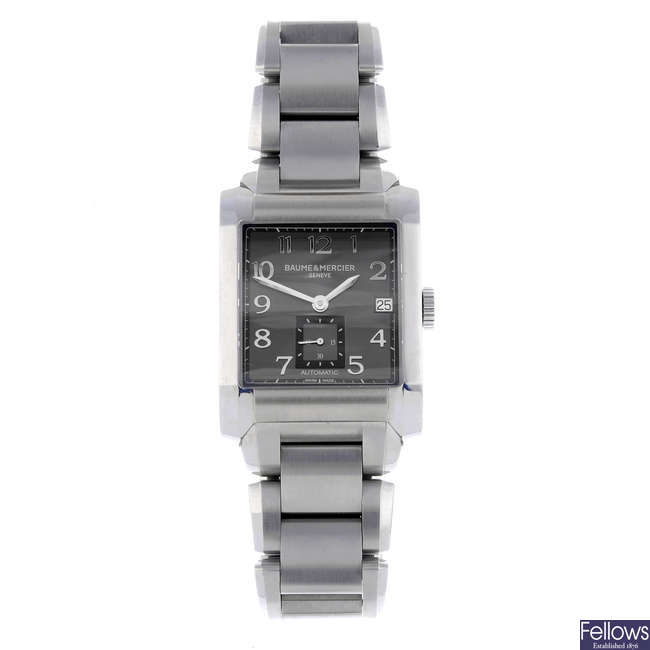 BAUME & MERCIER - a gentleman's stainless steel Hampton bracelet watch.