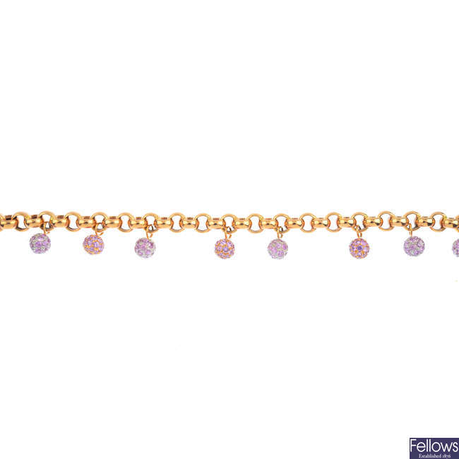 A sapphire fringe bracelet.
