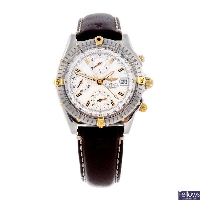 BREITLING - a gentleman's stainless steel Chronomat Evolution chronograph bracelet watch.