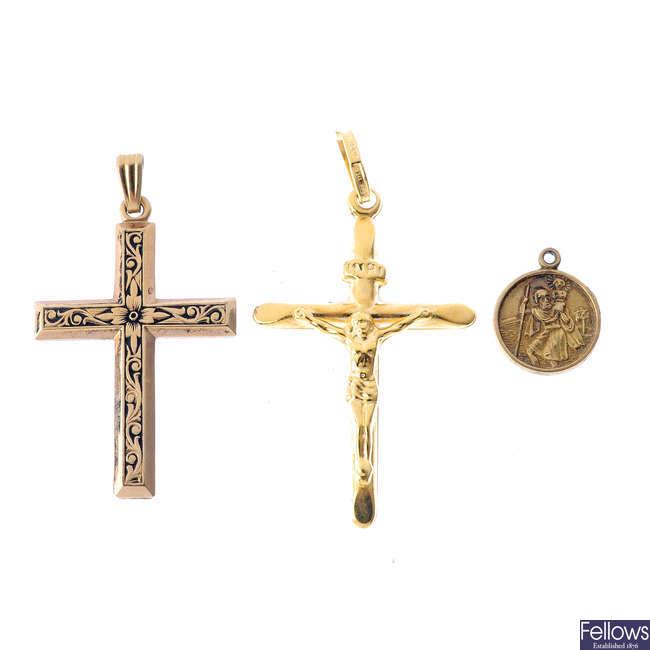 A selection of pendants and earrings.