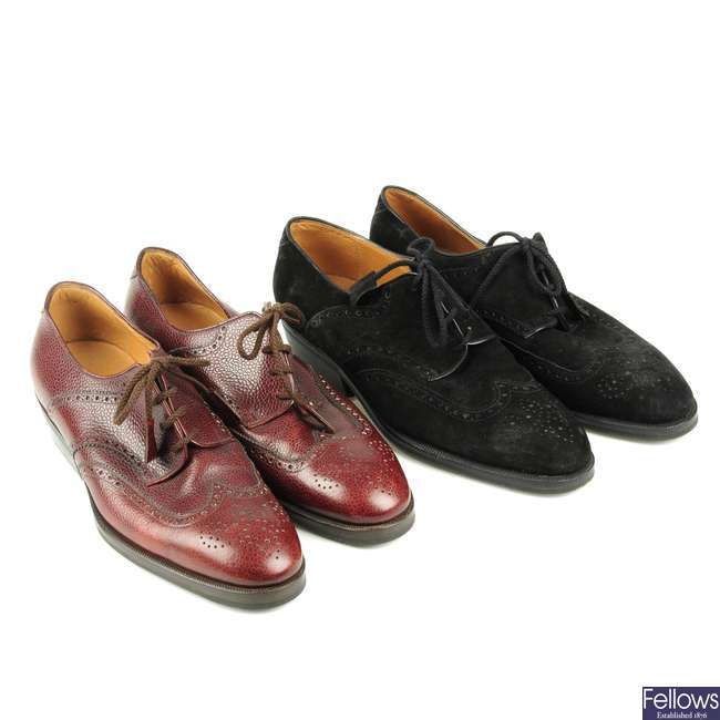 AUBERCY - two pairs of gentlemen's bespoke shoes.