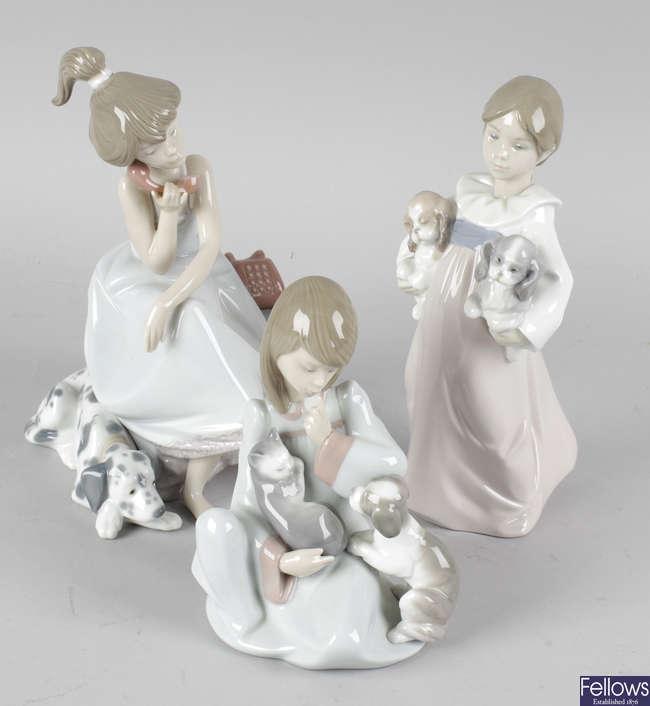 Five Lladro figurines