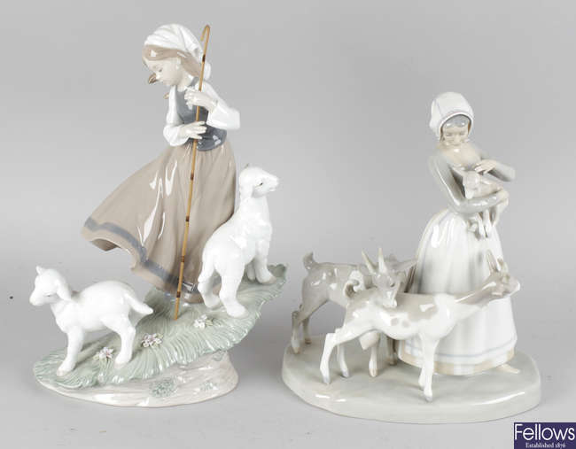 Two large Lladro figurines