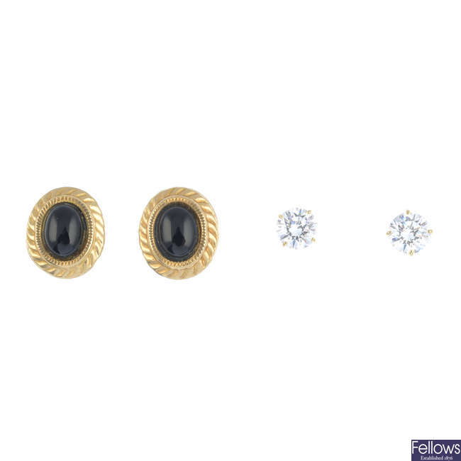 A selection of earrings.