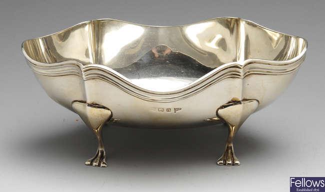 An early twentieth century silver dish.
