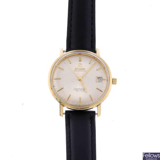 OMEGA - a gentleman's bi-colour Seamaster De Ville wrist watch.