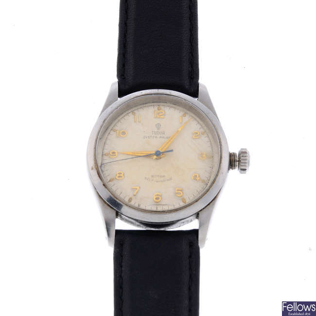 TUDOR - a gentleman's stainless steel Oyster Prince wrist watch.